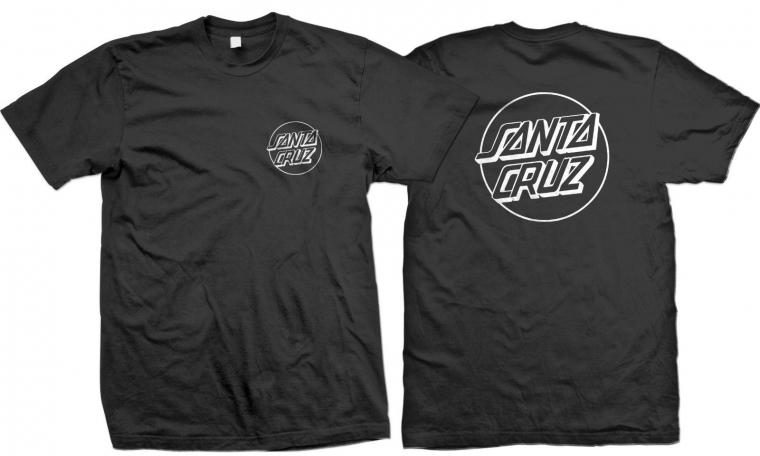Santa Cruz Classic Dot Logo 2 Side T-Shirt S to 3XL