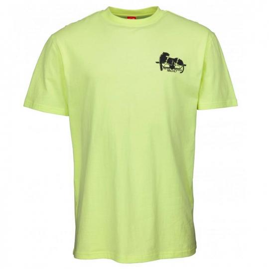 Santa Cruz Natas Panther T-Shirt - Lime - Mens T-Shirts