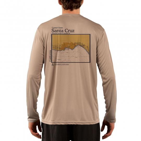 Santa Cruz Nautical Chart Men's UPF 50+ UV/Sun Protection Long Sleeve T-Shirt