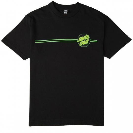 Santa Cruz OTHER DOT Black Green Screenprint Regular Short Sleeve Men's T-Shirt