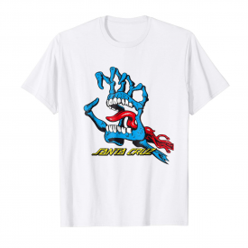 Santa Cruz Screaming Hand Funny White T-shirt S-3XL
