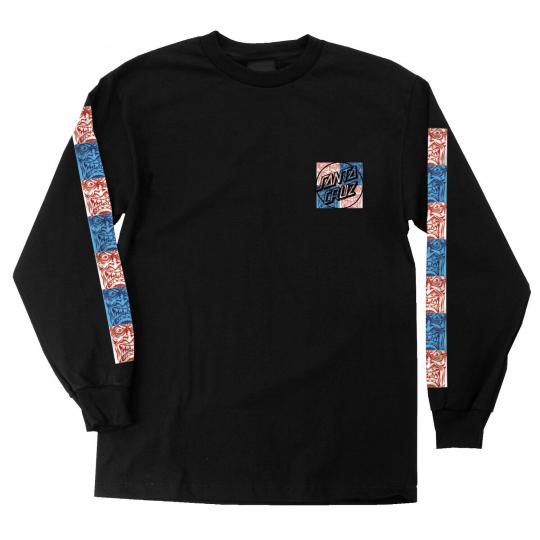 Santa Cruz Skateboard Longsleeve Shirt Rob Face Tile Black
