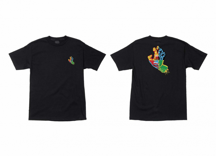 Santa Cruz Skateboard Shirt Hand Blocker Black