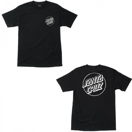 Santa Cruz Skateboard Shirt Opus Dot Black/White