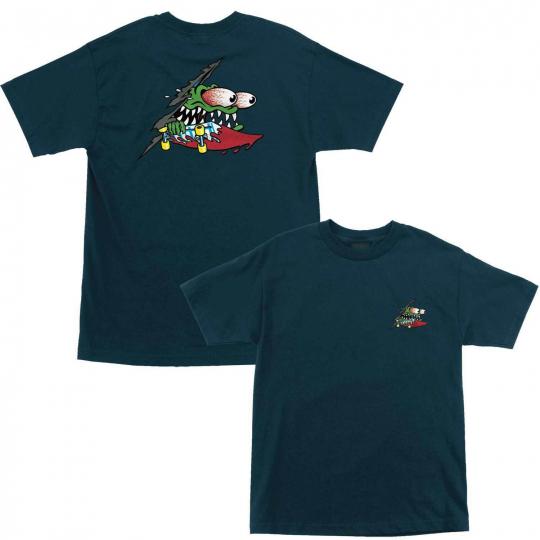 Santa Cruz Skateboard Shirt Slashed Harbor Blue