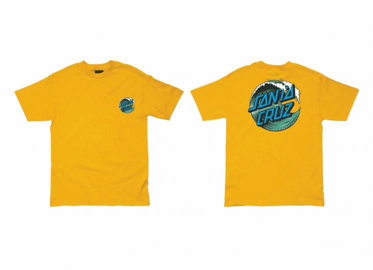 Santa Cruz Skateboard Shirt Wave Dot Gold