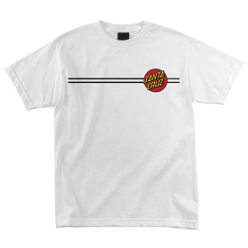 Santa Cruz Skateboards Classic Dot T-Shirt – Black – White – 4414060