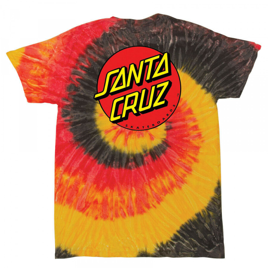 Santa Cruz Skateboards Classic Dot Tie Dye Kingston Short Sleeve T-shirt $28