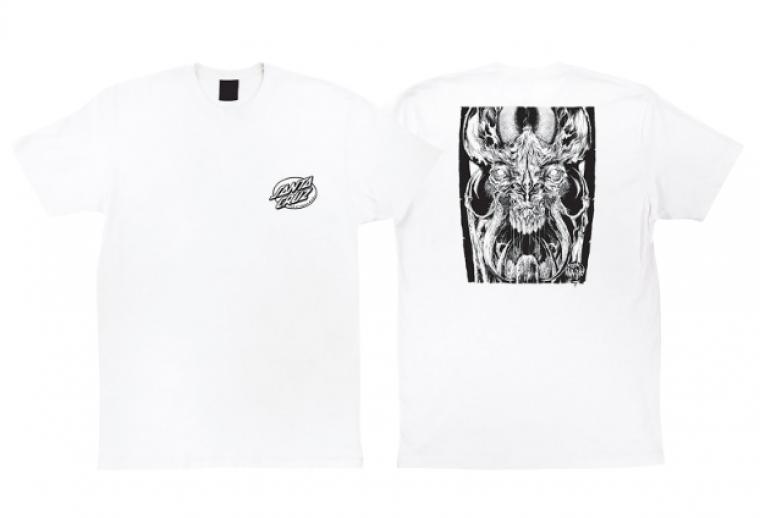 Santa Cruz Skateboards Erick Winkowski Primeval White T-Shirt