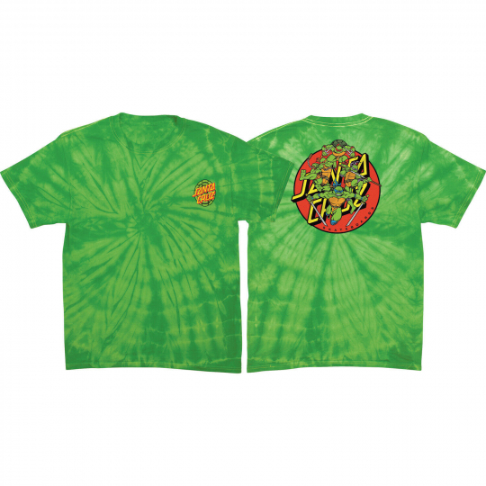 Santa Cruz Skateboards x TMNT - Turtle Power - Lime Tie Dye T-shirt $28