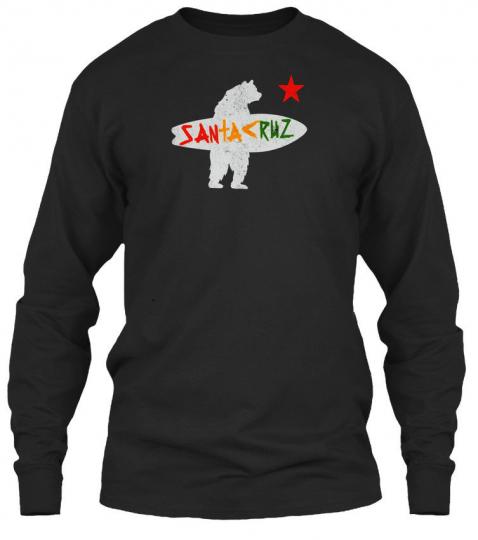 Santa Cruz Surf Bear Irie Vintage - Santakruz Gildan Long Sleeve Tee T-Shirt