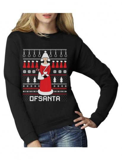 Santa's Handmaide Tv Show Funny Ugly Christmas Women Sweatshirt