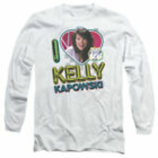 Saved by the Bell TV Show I LOVE (HEART) KELLY KAPOWSKI Long Sleeve Shirt S-3XL