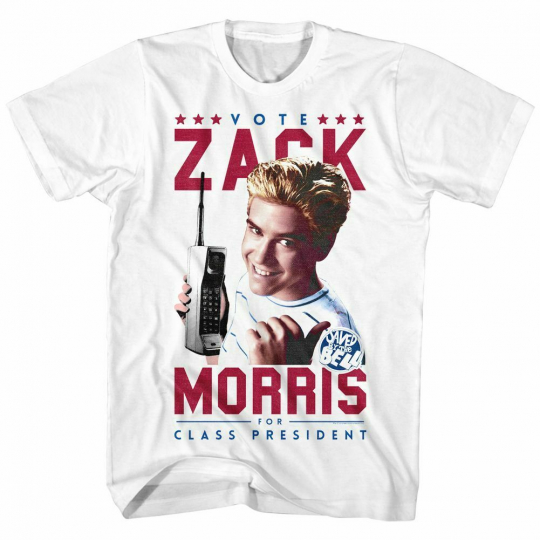 Saved by the Bell Votezack White T-Shirt