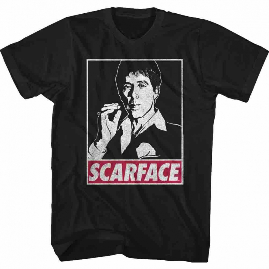 Scarface Obey Tony Black T-Shirt
