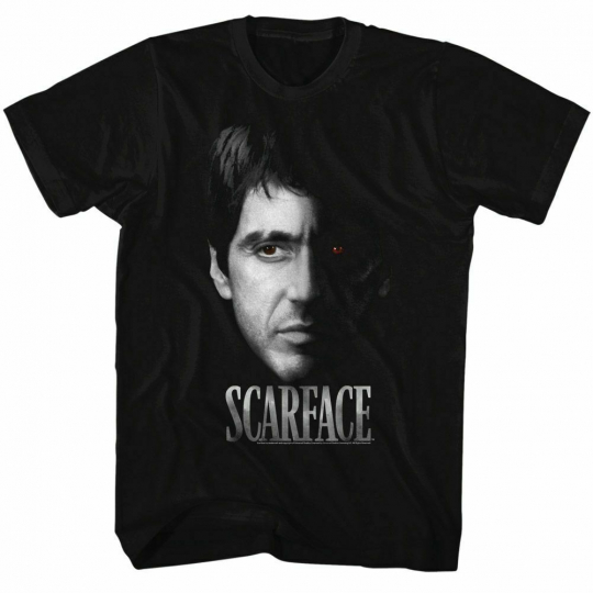 Scarface Red Eye Black T-Shirt