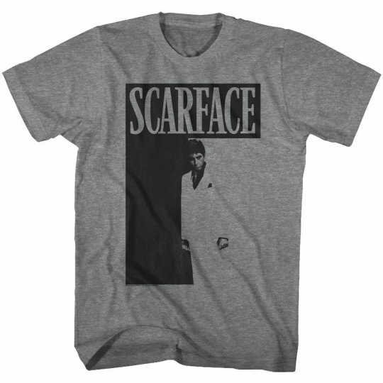 Scarface Scarface Graphite Heather Adult T-Shirt