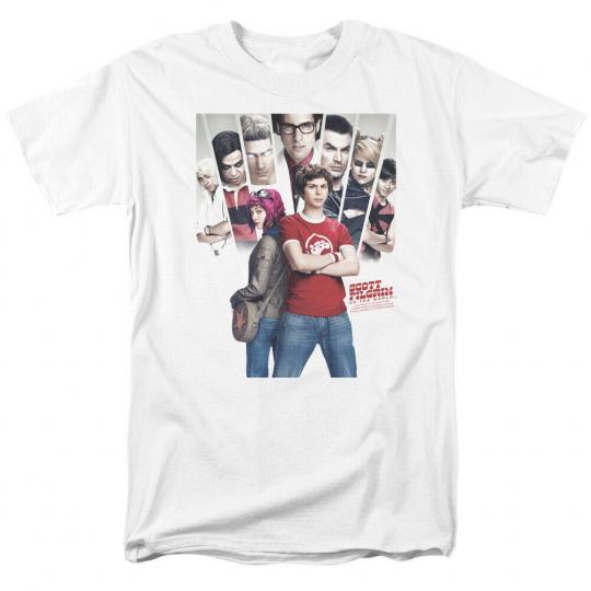 Scott Pilgrim Movie Pilgrim Poster Licensed Adult T Shirt