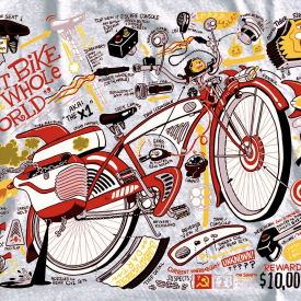 PEE-WEE BIKE SCHEMATIC T-shirt !