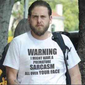 Jonah Hill Sarcasm T-shirt