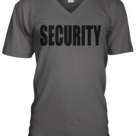 Security Black Text Design Costume Funny Gag Gift Humor Joke Mens V-neck T-shirt