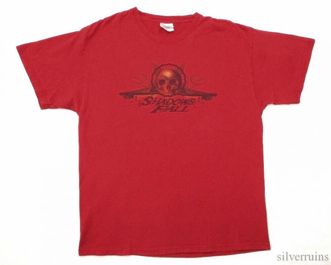 Shadows Fall Vintage T Shirt 2000's Concert Tour L Metal Core Band Overcast