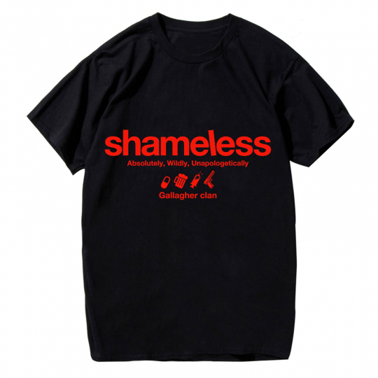 Shameless Gallagher Clan Funny Men T-shirt Short Sleeve Cotton Tee Black Tops