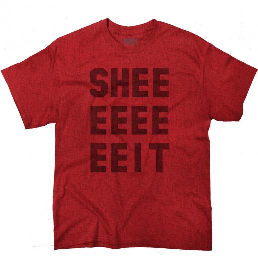 Sheeeit Funny TV Show Internet Meme Gif Clay Short Sleeve T-Shirt Tees Tshirts