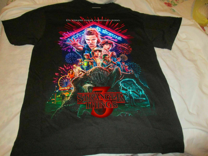 Size S-3XL NEW Stranger Things 3 T-shirt All Cast Signed Tee Shirt