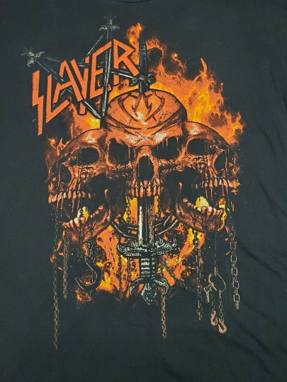 Slayer Shirt Band Tee Vintage XL Black