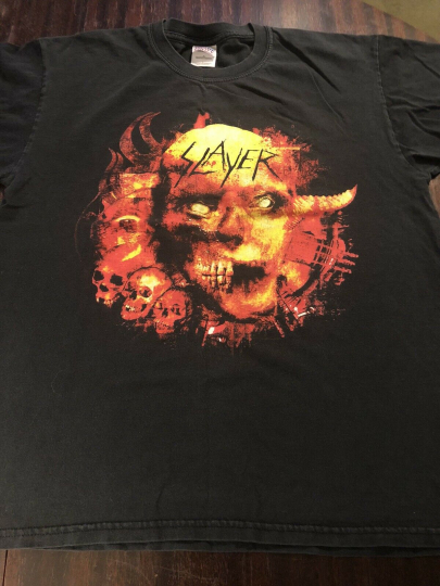 Slayer Tour Vintage Tshirt Mens Large