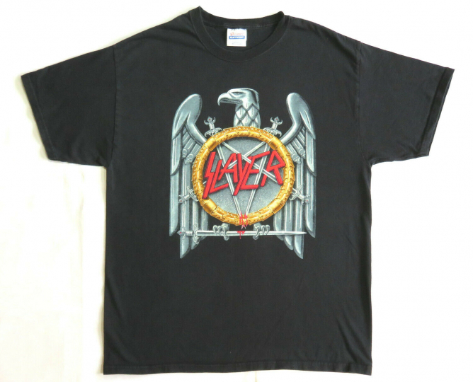 Slayer Vintage T Shirt 2000's Tour Concert 2004 War Eagle L Thrash Metal Band