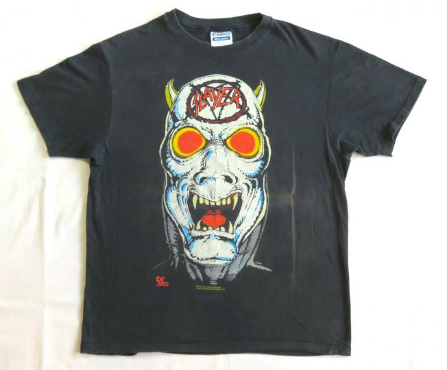 Slayer Vintage T Shirt 80's 1986 Reign In Blood Tour Demon Logo Thrash Metal Die
