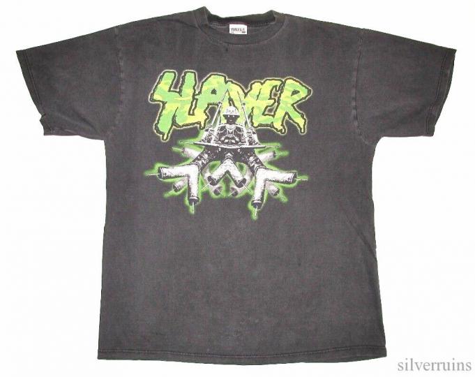 Slayer Vintage T Shirt 90's 1997 Concert Tour XL War Sport Thrash Metal Band