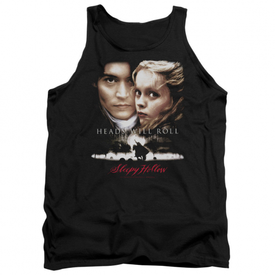 Sleepy Hollow Movie Poster HEADS WILL ROLL Licensed Adult Tank Top All Sizes