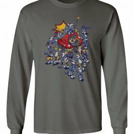 Smurf Zombie Shirt Gargamel Smurfette Men's Long Sleeve T-Shirt