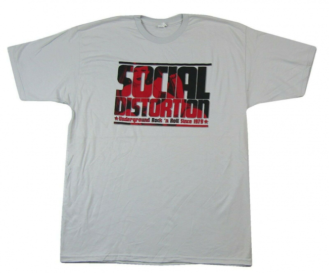 Social Distortion Words Underground Rock Grey T Shirt New Official Band Merch