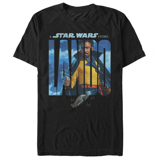 Solo: A Star Wars Story Lando Name Movie Poster Mens Graphic T Shirt