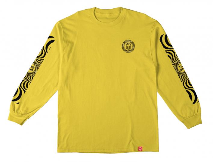 Spitfire Skateboard Longsleeve Shirt Classic Swirl Yellow/Black Mens