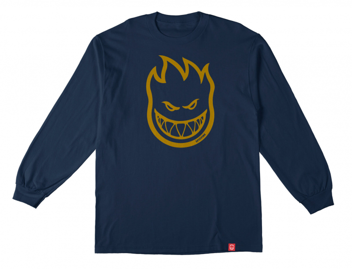 Spitfire Wheels Skateboard Longsleeve Bighead Harbor Blue/Gold