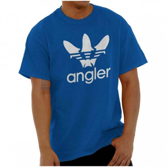 Sportfishing Angler Fisherman Novelty Gift Short Sleeve T-Shirt Tees Tshirts