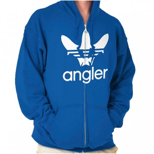 Sportfishing Angler Fisherman Novelty Gift Zipper Sweat Shirt Zip Sweatshirt