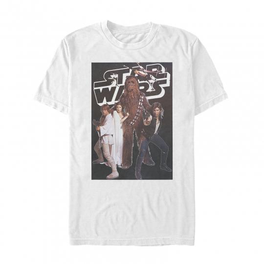 Star Wars Classic Movie Poster Scene Mens Graphic T Shirt