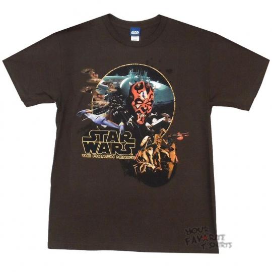Star Wars The Phantom Menace Movie Poster Darth Maul Licensed Adult T-Shirt