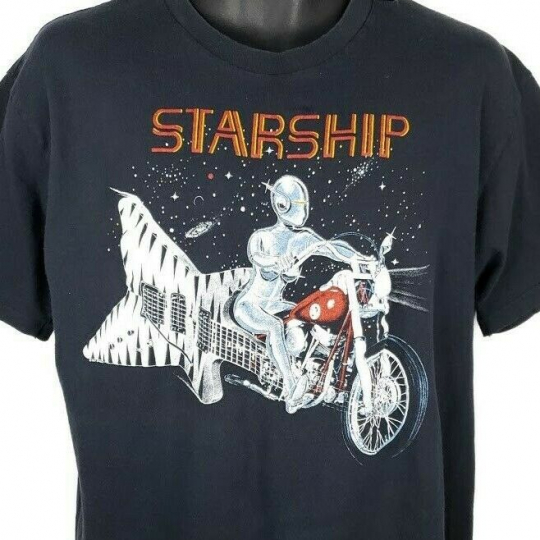 Starship Concert T Shirt Vintage 80s 1987 1988 World Tour Made In USA Size XL