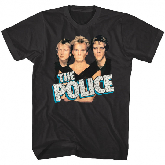 Sting & The Police Greatest Hits Album Cover Mens T Shirt Rock Band Tour Merch