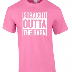 Straight Outta The Barn Compton Movie Parody T-Shirt