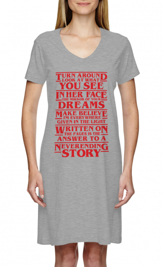 Strange Neverending Story Lyrics - Things TV Show Dress