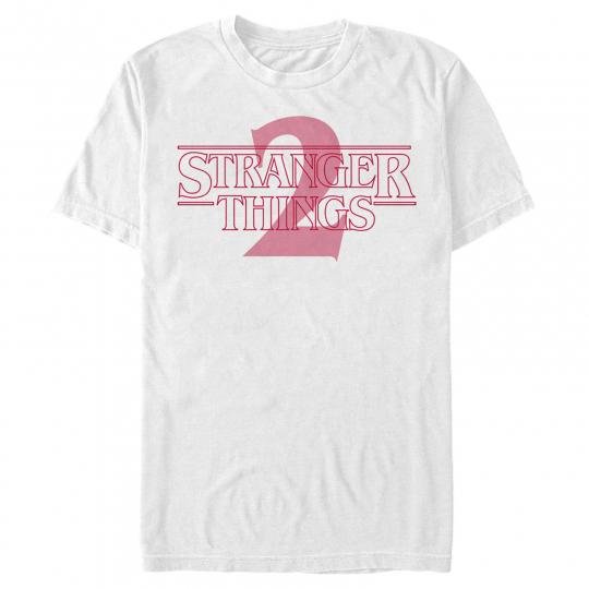 Stranger Things 2 Faded Logo Mens Graphic T Shirt