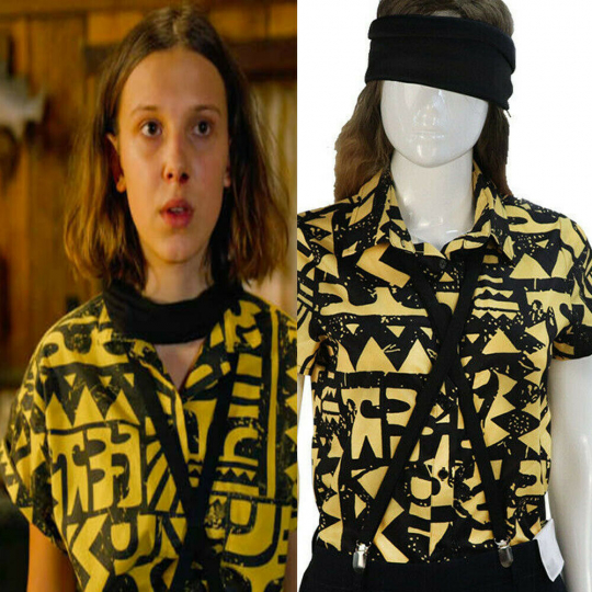 Stranger Things 3 Eleven Costume Shirt Halloween Carnival Party Props Cosplay
